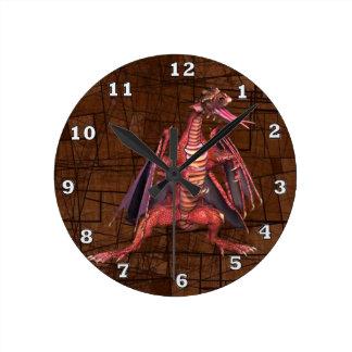 Relógio Redondo Pulso de disparo voado fantasia do dragão