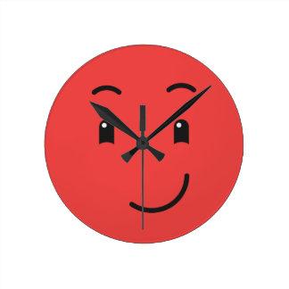 Relógio Redondo Pulsos de disparo de parede bonitos do smiley
