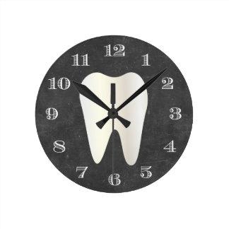 Relógio Redondo Quadro branco do dente dos cuidados dentários do