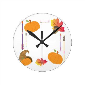 Relógio Redondo Quadro da acção de graças