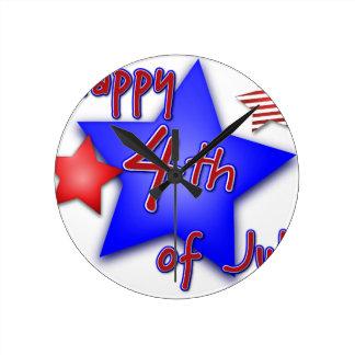 Relógio Redondo Quarto da celebração de julho
