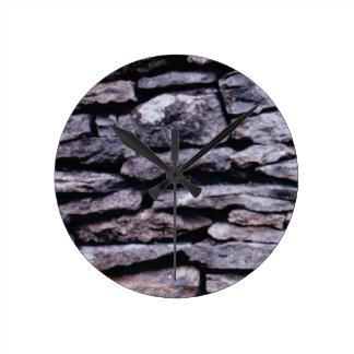 Relógio Redondo quebra-cabeça da rocha