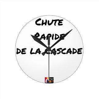 Relógio Redondo QUEDA RÁPIDA da CASCATA - Jogos de palavras