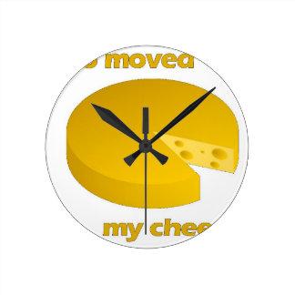 Relógio Redondo Quem moveu o queijo