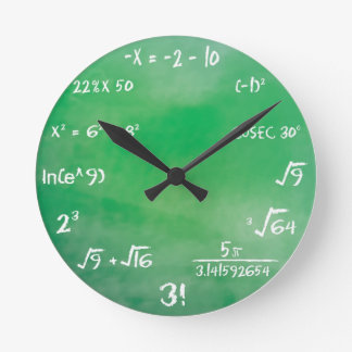 Relógio Redondo Questionário dos Maths - pulso de disparo do