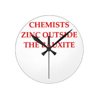 Relógio Redondo química