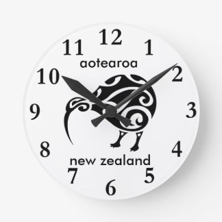 Relógio Redondo quivi de Nova Zelândia do aotearoa