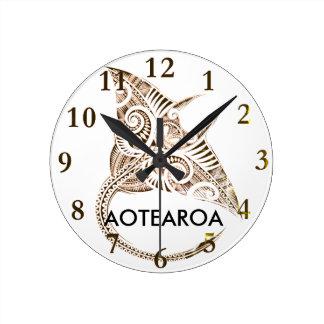 Relógio Redondo raio de manta gigante maori AOTEAROA