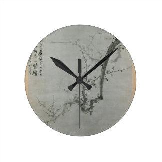 Relógio Redondo Ramo da ameixa - Yi Yuwon