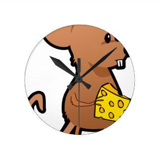 Relógio Redondo Rato com queijo