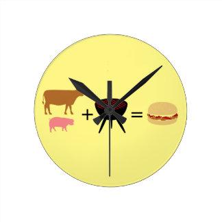 Relógio Redondo Receita do hamburguer do bacon