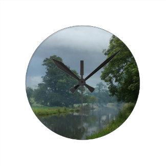 Relógio Redondo Reflexões do canal