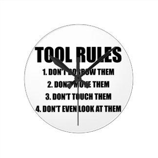 Relógio Redondo Regras da ferramenta