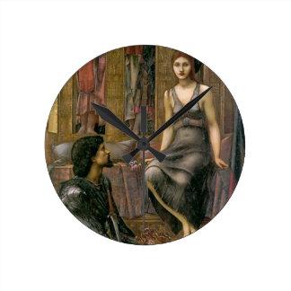 Relógio Redondo Rei Cophetua e empregada doméstica de Edward - de