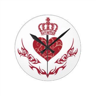 Relógio Redondo Rei do coração