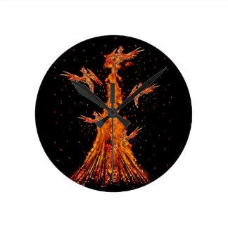 Relógio Redondo Renascimento de Phoenix