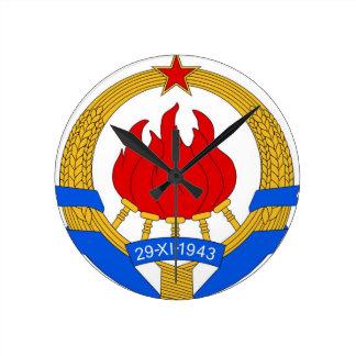 Relógio Redondo República federal socialista do emblema de