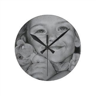 Relógio Redondo Retrato da criança
