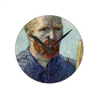 Relógio Redondo Retrato de auto de Van Gogh