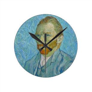 7d4aebc187d Relógio Redondo Retrato de auto de Vincent van Gogh