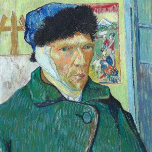 019d9ae16f4 Relógio Redondo Retrato de auto de Vincent van Gogh com orelha