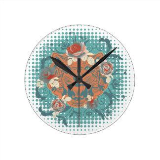 Relógio Redondo Retrato decorativo 3 do tigre