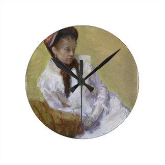 Relógio Redondo Retrato do artista - Mary Cassatt