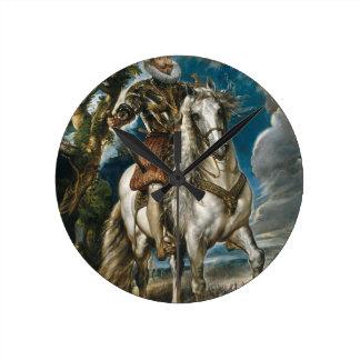 Relógio Redondo Retrato equestre do duque de Lerma - Rubens