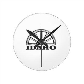 Relógio Redondo Roda de vagão de Idaho