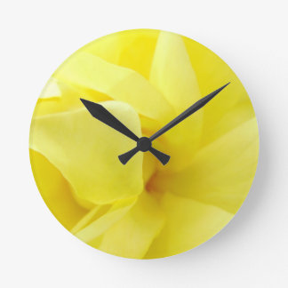 Relógio Redondo Rosa amarelo