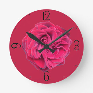 Relógio Redondo Rosa vermelha