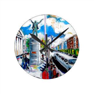 Relógio Redondo rua Dublin do oconnell do monumento do larkin