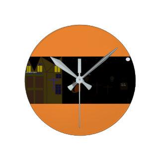 Relógio Redondo Sacola do Dia das Bruxas da qualidade