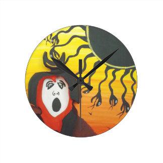 Relógio Redondo Sacrifício ao deus de cobra solar