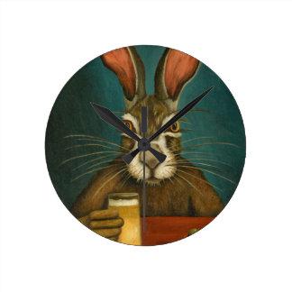 Relógio Redondo Saltos do coelho