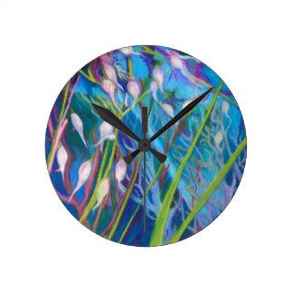 Relógio Redondo Santuário do Sagebrush com grama selvagem