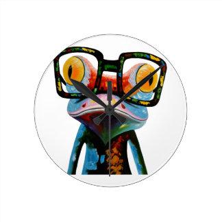 Relógio Redondo Sapo dos vidros do hipster