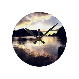 Relógio Redondo Seascape de Icmeler