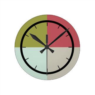 Relógio Redondo Seixo da azeitona da hortelã da baga