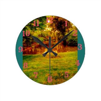 Relógio Redondo Selva do verão
