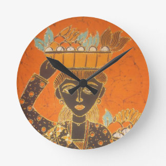 Relógio Redondo Senhora retro bonito retrato do vintage de Van