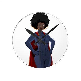 Relógio Redondo Senhora super-herói