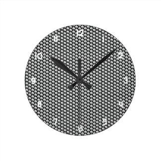 Relógio Redondo Sequins de cristal de prata