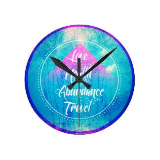Relógio Redondo Série de manifestação do viagem da abundância da
