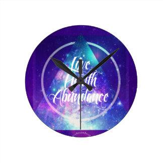 Relógio Redondo série do zen da amor-saúde-abundância