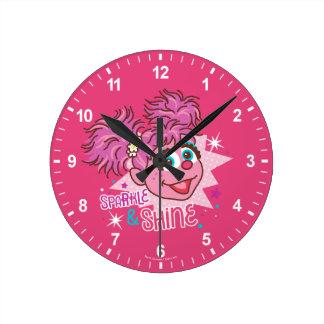 Relógio Redondo Sesame Street | Abby Cadabby - faísca & brilho