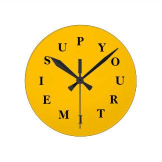 Relógio Redondo Seu tempo é acima do pulso de disparo médio do