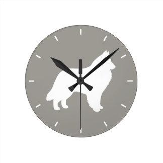 Relógio Redondo Silhueta belga do Sheepdog