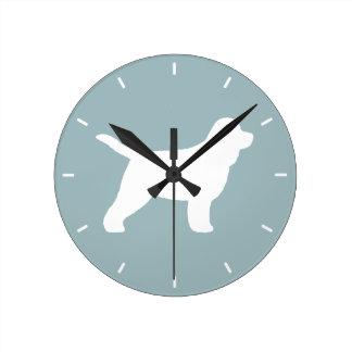 Relógio Redondo Silhueta de Cockapoo