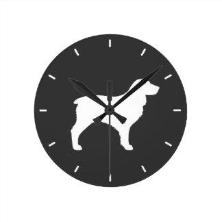 Relógio Redondo Silhueta do Spaniel de Boykin